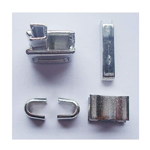 2 sets silver #10 metal zipper head box zipper sliders retainer insertion pin easy for