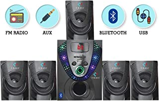 IKall IK666 Bluetooth 5.1 Channel Multi Media Home Theater System with Remote, FM Radio, Bluetooth, 3.5 mm AUX Support & USB Connectivity with Digital Display Panel