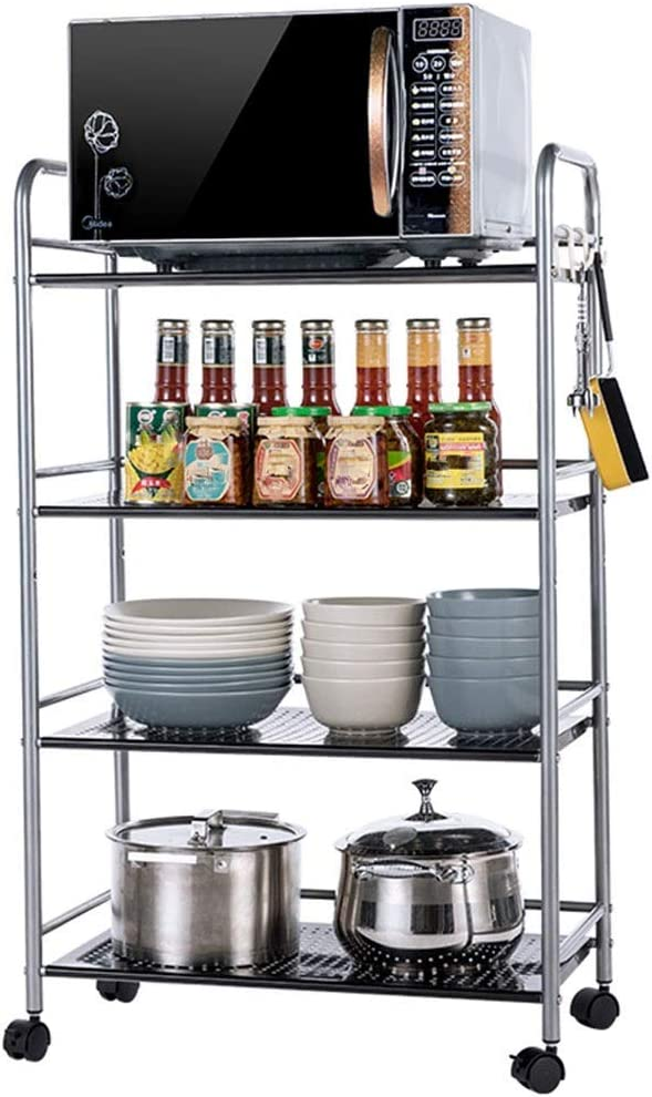 WHEEJE Microwave Oven Super popular specialty store Shelf Stainless Steel Kitchen Floor Jacksonville Mall Multi-