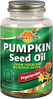 Health From The Sun 100% Vegetarian Pumpkin Seed Oil Softgels, 90-Count