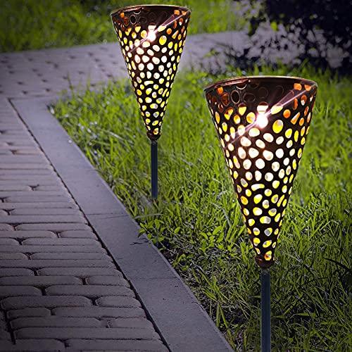 Lanterna solare per esterni, lampada a LED da giardino, impermeabile, 2 pezzi