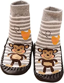 Clearance Sale Baby Toddlers Boys Girls Cute Warm Non-Skid Slipper Floor Socks Indoor Shoes