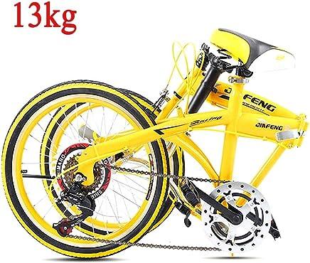 Grimk 20 Pulgadas Plegable De Aluminio Bicicleta De Paseo Mujer Bici Plegable Adulto Ligera Unisex Folding Bike Manillar Y Sillin Confort Ajustables,Velocidad única,Capacidad 110kg