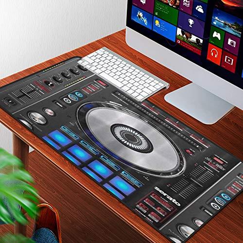 Luoquan Alfombrilla Raton Grande Gaming Mouse Pad,DJ Pioneer Pattern Impresión 3D,Lavable, Antideslizante Diseñada para Gamers, Trabajo de Oficina