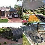 E.enjoy Malla Sombra De Red 70% Sunblock Shade Cloth Net Black Resistente a los rayos UV, Lona de malla Garden Shade para cobertura vegetal, Invernadero, Granero o perrera, Panel de calidad de tela To