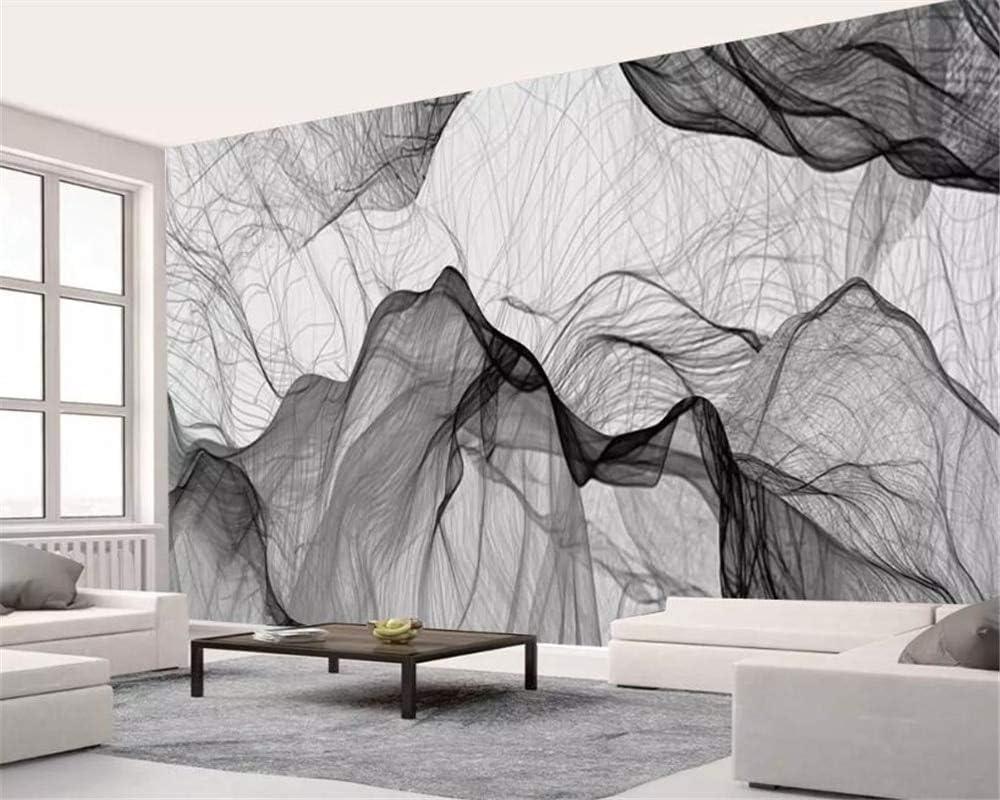 Amazon Bzdhwwh カスタム 壁紙 壁画 抽象画 白黒 風景 スモークヨーロッパ パーソナリティ 背景 壁画 壁紙 170cm H X 255cm W 壁紙