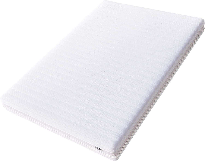 Hilding Sweden Essentials Memoryschaum- Mittelfeste Matratze, aus thermoelastischem Visko-Komfortschaum, für alle Schlaftypen (H2-H3) 190 x 140 cm, wei