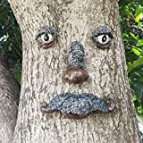 MARYTUMM Sleepy Tired Old Man Tree Hugger - Garden Peeker Yard Art - Outdoor Tree Hugger Sculpture Whimsical Tree Face Garden Decoration