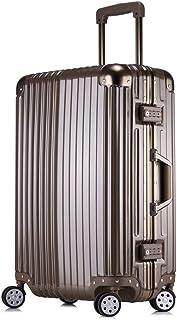 Trolley case Universal Wheel Suitcase Female Password Box Boarding case Retro Suitcase Golden 26 inch