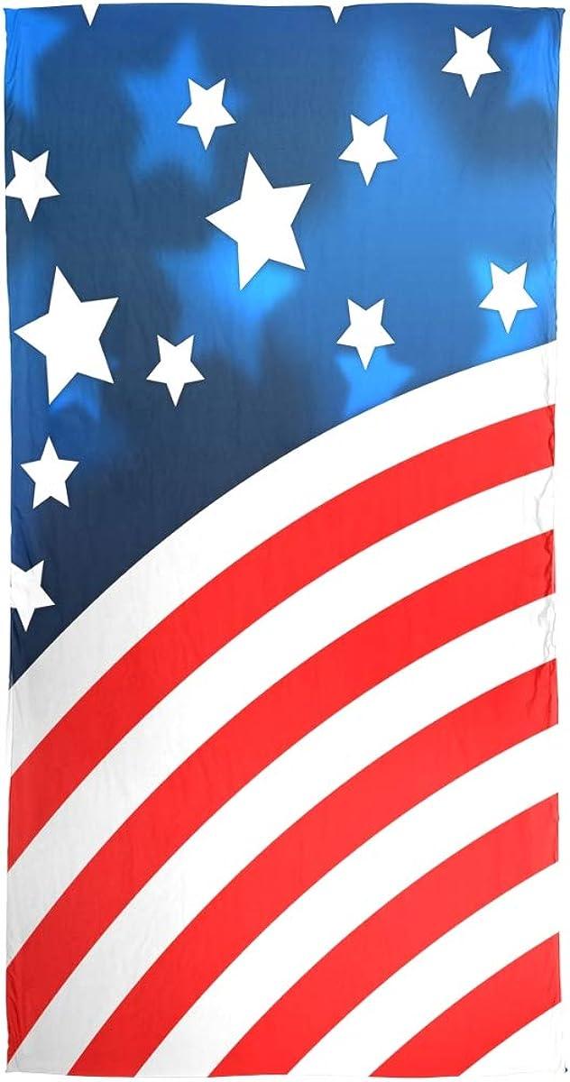 AUUXVA Fashion Scarf American Flag Independence Day Long Lightweight Sunscreen Scarf Shawl Wrap Muffler Neckerchief for Women Men
