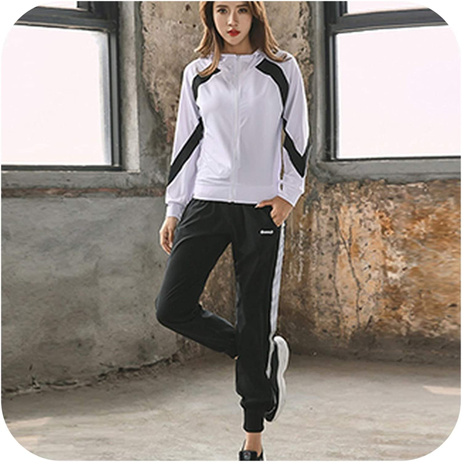 Mr Li Sports Suits Women's Gym Running Yoga Sets Quick Sweating Sportswear Fitness Training Clothes Jogging Suits