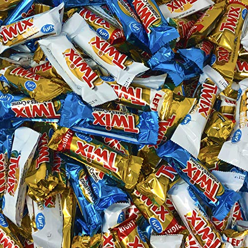 Twix Cookie Bars, Fun Size Assorted Flavors Original, Cookies and Creme and White Chocolate, Party Favors and Candy Bowls, 3 Pounds