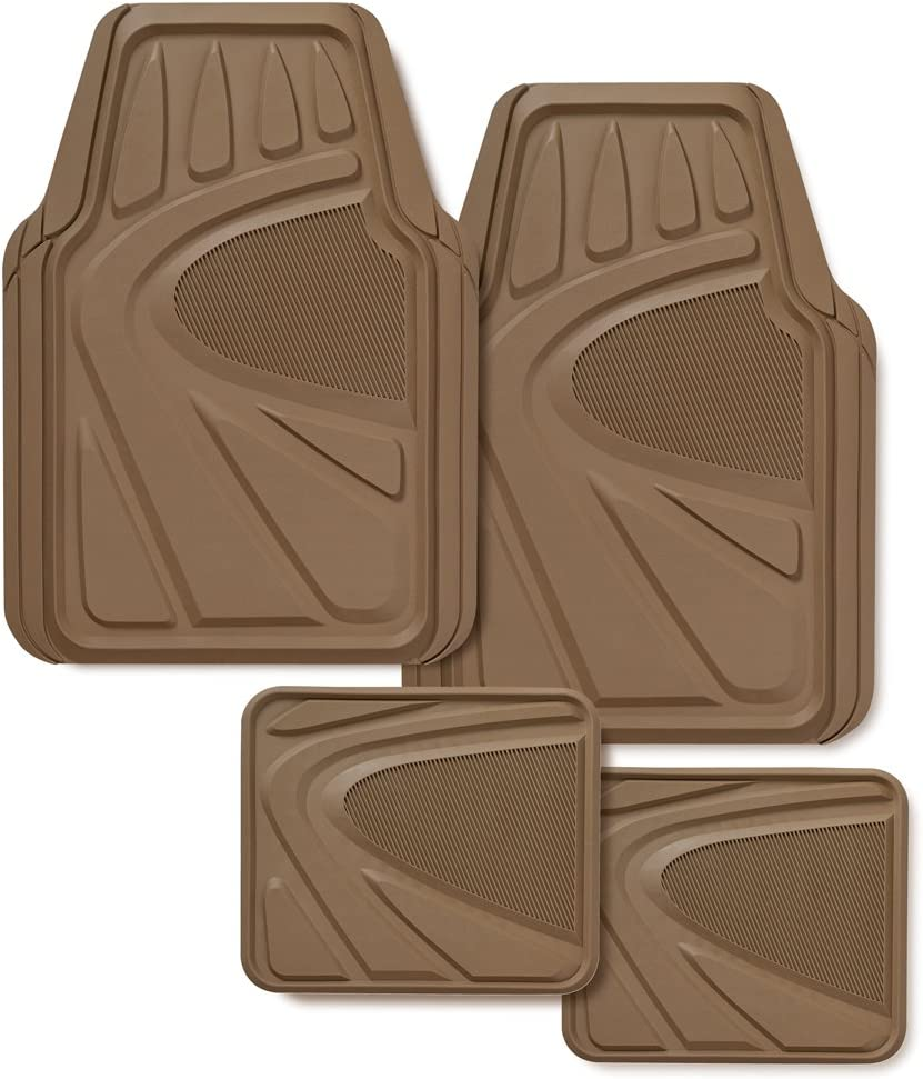 Kraco R5704TAN Tan Premium Rubber 4 Piece Mat online shopping - Recommended