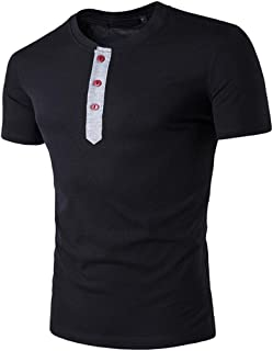 Men's Casual Ripped Hole Short Sleeve T-Shirt Top Blouse