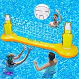 Pool Volleyball Set, Pool Games for Adults and FamilyKids, Pool Toys for Teens, Inflatable Swimming Pool Floats Accessories Summer Outdoor Outside Pool Party Games Volleyball Court (108'×20'×33')