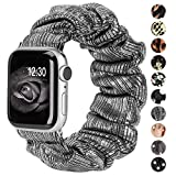 Ownaco Kompatibel für Apple Watch 6 Armband 42mm 44mm Scrunchies Stoff Weiches Muster...