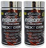 MuscleTech Hydroxycut Hardcore Next Gen, Scientifically Tested Weight Loss and Energy, Weight Loss Supplement (2 x 180 C