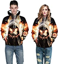 MmNote Unisex Realistic Halloween Fashion 3D Digital Print Pullover Hoodie Hooded Sweatshirt in 7 Colors. Sizes: S-5XL
