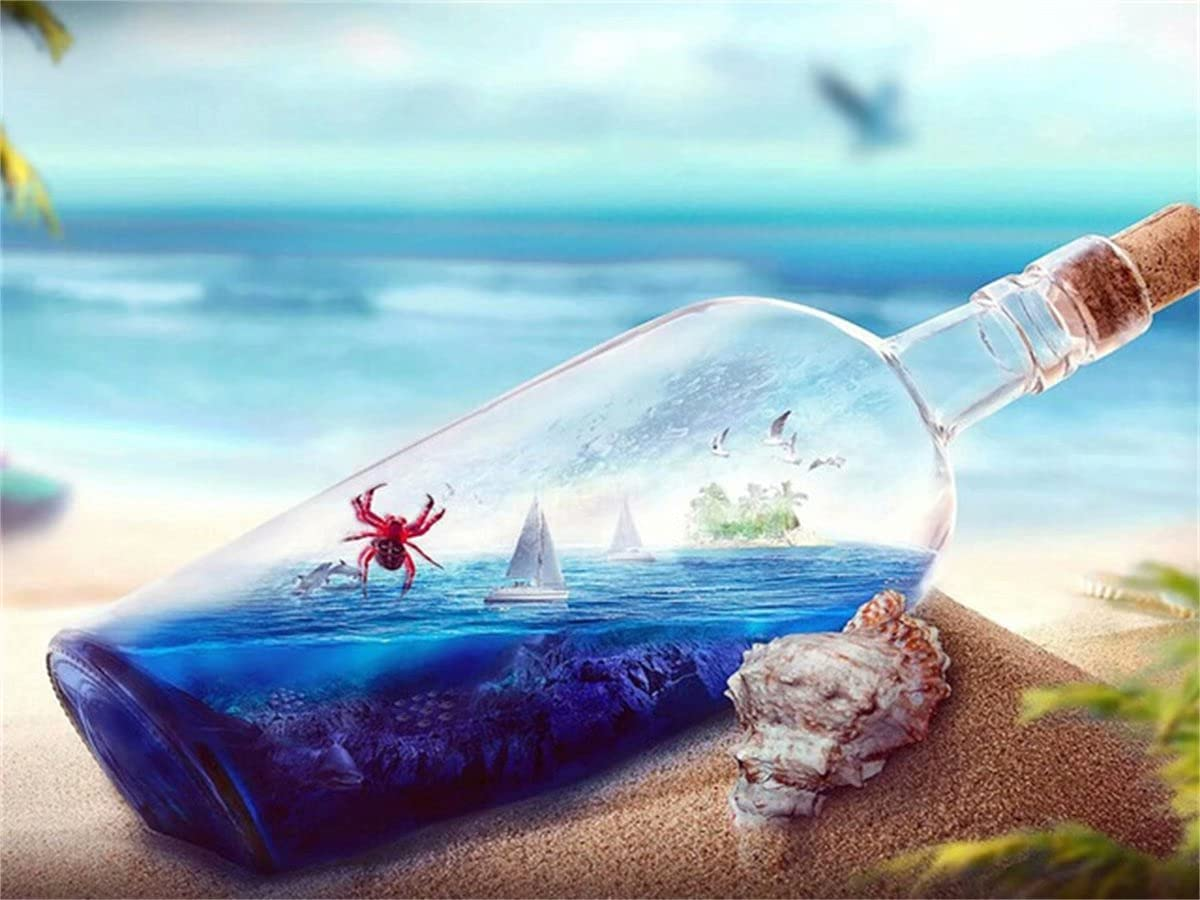 5D Sale Diamond Painting Kits Full OFFicial site Beach P Glass Drill Bottle