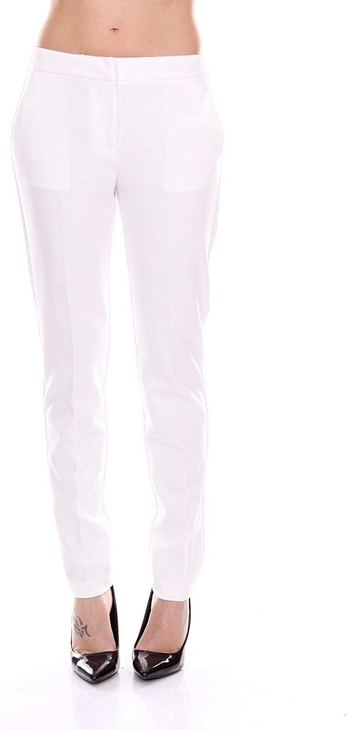 bluegirl Women's 6258WHITE White Polyester Pants