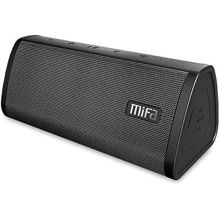 MIFA A10 Bluetooth スピーカー microSDカード/有線接続も対応 IP45防塵防水 単体でステレオ出力 True Wireless Stereo機能対応 USB充電 小型 ステレオサウンド デュアルドライバー