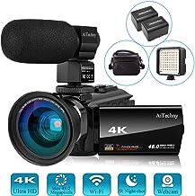Video Camera 4K Camcorder Vlogging Camera for YouTube AiTechny Ultra HD 48MP Digital WiFi..