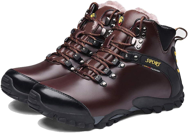 Giles Jones Men Hiking shoes Winter Lace-up Plush Boots Warm Climbing Mountain Boots