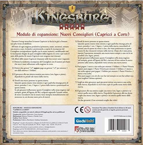 Kingsburg : CAPRICCI A Kurzerweiterung italienisches Brettspiel