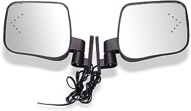 World 9.99 MallGas & Electric Golf Carts Side Rear View Signal Mirror Set with Turn Signals for EZGO Club Car Yamaha