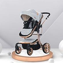 Sistema de viaje cochecitos de bebé Silla de paseo plegable ligera de hasta 25 kg con posición acostada Cochecito de bebé de dos vías Split and Sit Light para bebés recién nacidos ( Color : Gray )