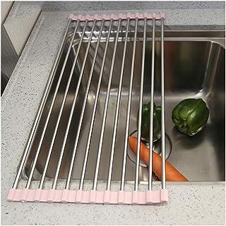 Vaisselle de Vaisselle Pliante en Acier Inoxydable pour Vaisselle en Acier Inoxydable antidérapante, séchoir à Linge, Supp...