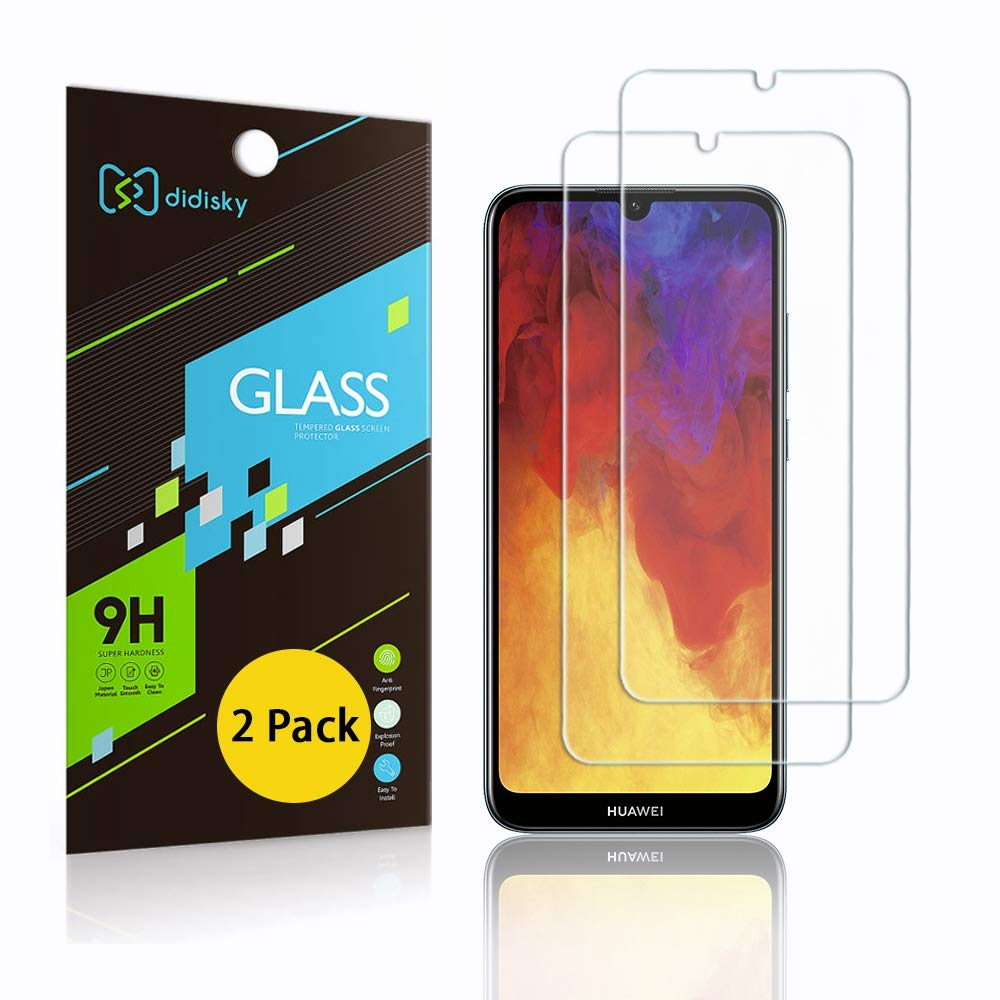 Didisky Tempered Glass Screen Protector for Huawei Y6 2019/Y6 PRO 2019/Honor 8A /Honor 8A PRO, [ 2 Pack ] Anti Scratch…