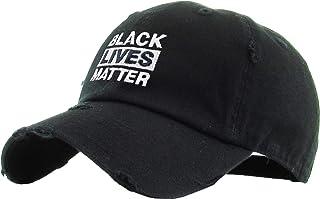 Black History Month Fist Black Power Black Lives Matter I Can't Breathe Vintage Distressed Baseball Cap