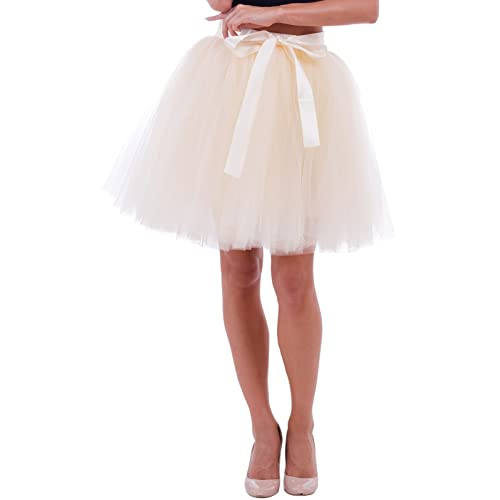 d135ea64c2 Duraplast Women's Above Knee Skirt Tutu Petticoat High Waist Tulle