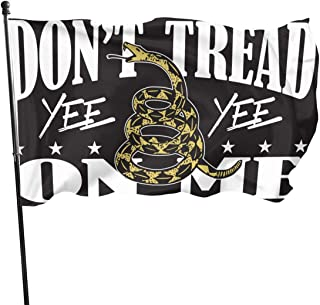 Fly Breeze 3 X 5 Feet Flag Don't Tread On Me Yee Yee Vivid Color and UV Fade Resistant Double Stitched Polyester with Brass Grommets 3 X 5 Ft