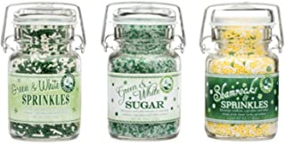 Pepper Creek Farms St. Patrick Day's Sprinkle and Sugar Decorating Set of Three Jars
