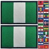 JBCD 2 Pack Nigeria-Flagge Patch Nigerianische Flaggen Tactical Patch Pride Flag Klettverschluss Patch für Kleidung Hut Patch Team Military Patch