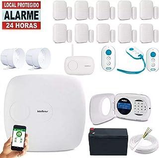 Kit Alarme Amt 1016net Com Teclado Lcd App Celular Intelbras