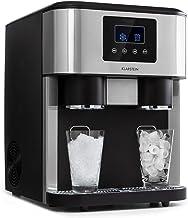 KLARSTEIN Eiszeit Crush - Machine à glaçons 3 en 1: glaçons, glace pilée, eau glacée, 2 tailles de glaçons, 15-18 kg / 24...