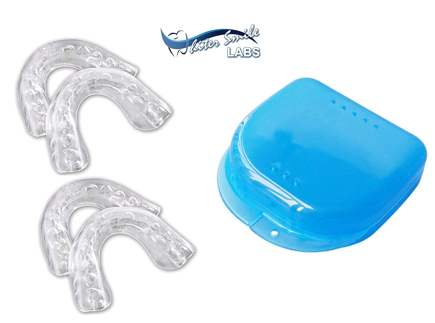 Whiter Smile Labs Teeth Whitening Trays - BPA Free - Thin Moldable Mouth Trays Form Perfectly To Each Tooth (4 trays)