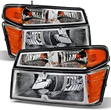 For Chevy Colorado/GMC Canyon Headlights + Parking Lights Replacement Driver + Passenger Side Pair Set
