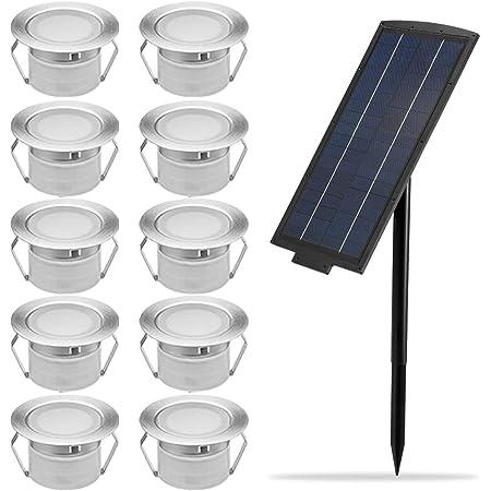 Solar Deck Lights Kit Fvtled 10pcs φ1 77 Solar Powered Dusk To Dawn Low Voltage Led Step Lights Kit Dimmable Rgb Muti Color Inground Lights