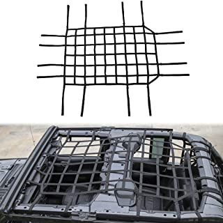 JeCar Mesh Cargo Net Heavy Duty Multi-Functional Roof Net for 2018-2019 Jeep Wrangler JL & Unlimited