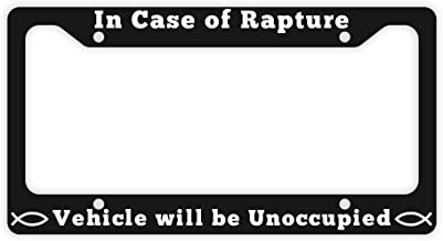 Jesus License Plate Frame in Case Rapture Vehicle Will Be Unoccupied Christian Gifts Women Christian Gifts Men Jesus Gifts Christian Birthday Gifts Novelty License Plate Frame Black
