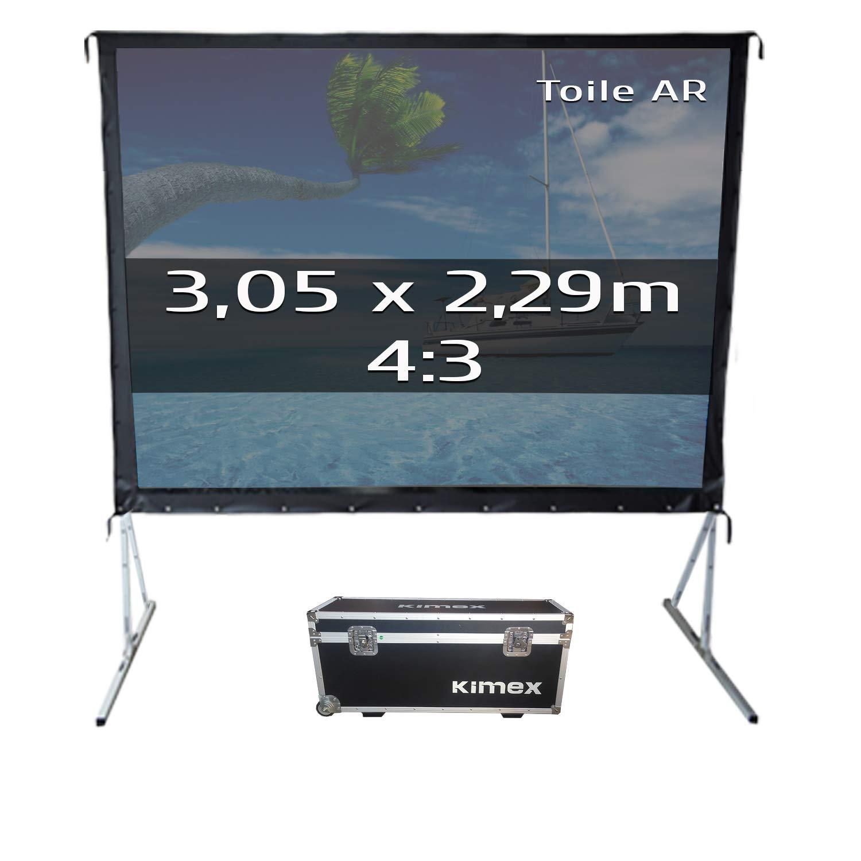 KIMEX 046-2006K Pantalla de proyección móvil de marco plegable 3,05 x 2,29m, Formato 4/3- Tela de retroproyección: Amazon.es: Electrónica