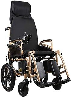 Sillas de ruedas eléctricas para adultos Silla de ruedas eléctrica accionada silla de ruedas plegable ligero de 39Kg, fuerte y durable for el uso, Sillas de ruedas motorizada conveniente for el uso de