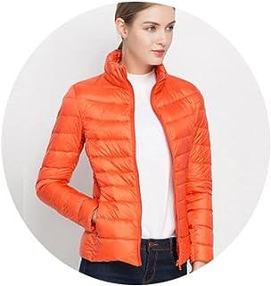 6f285aed8d6 Friedman Ultra Light White Duck Down Jacket Slim Women Winter Puffer Jacket  Portable Windproof Down Coat