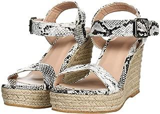 YYW Women Espadrille Platform Sandal Casual Open Toe Comport Espadrilles Wedge Sandals for Summer
