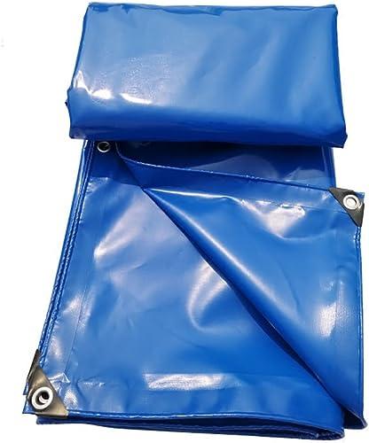 Hyxpb Bache imperméable à l'eau en Toile Tissu imperméable à l'eau de Prougeection Solaire Usure bache Couteau PVC grattoir mer Bleu (Taille   3m4m)