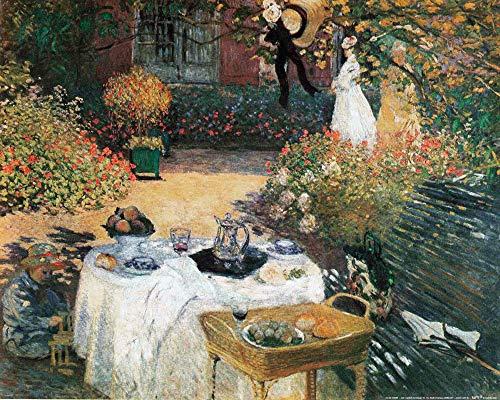 1art1 Claude Monet - Das Mittagessen, 1873 Poster Kunstdruck 50 x 40 cm